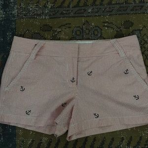 J Crew pink/white striped shorts sz.8 EUC